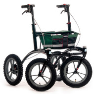 "Veloped Rollator Walker 14er- 14"" tires- Green/ Black/ Red"