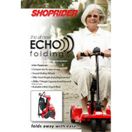 Shoprider Scooter - Echo Folding Mobility Scooter, FS777 with lady