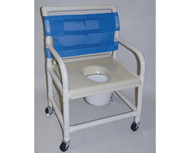 "Shower Chair- Vacuum Form Molded Seat- 24"" Int. Width # SC6014XVAC"