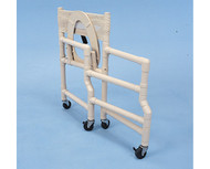 """Shower Chair- Folding- Deluxe Elongated Commode Seat- 18"""" Int Width # SCF6013 folded"""