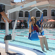 LifeGuard - Power Pool Lift - HOME USE - Sling Style with Anchor #100250