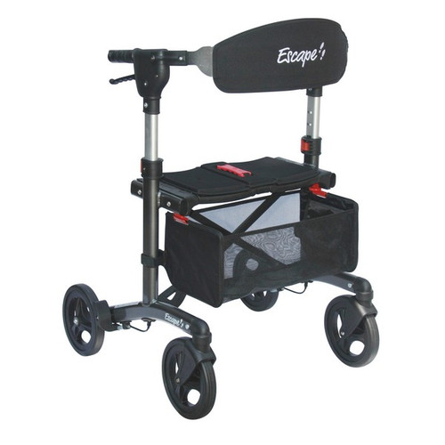 "Escape Rollator Charcoal -19"", 21"" and 24"" seat height unfolded"