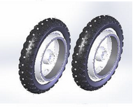 TOPRO - Troja 2G & Odyssé Studded wheels for IBS, pair of rear wheels - # 814670
