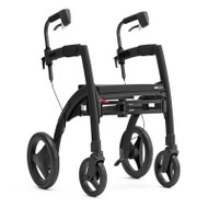 Rollz Motion2 - Rollator and Transport Chair in One -  Matt Black - from side