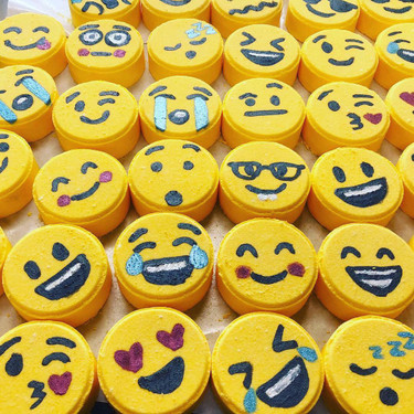 Bath bomb tablet emojis that everyone will want!