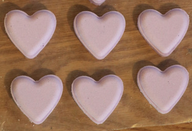 Heart bath fizzy mold.
