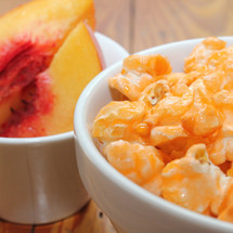 peach gourmet popcorn
