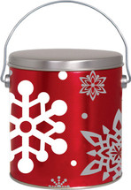 1 Gallon Let it Snow popcorn Tin