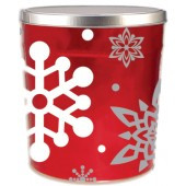 3 Gallon Let it Snow Gourmet Popcorn Tin