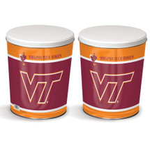Virginia Tech 3 Gallon Popcorn Tin