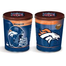 Denver Broncos 3 gallon Gourmet Popcorn Tin