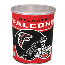 Atlanta Falcons 1 Gallon Popcorn Tin