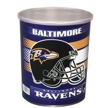 Baltimore Ravens 1 Gallon Popcorn Tin