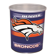 Denver Broncos 1 Gallon Popcorn Tin