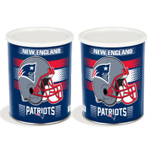 New England Patriots 1 Gallon Popcorn Tin