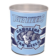 University of North Carolina 1 Gallon Popcorn Tin