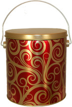 1 Gallon Golden Swirls Popcorn Tin