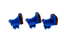 Blue Basic Sliders with Molded Pad For Giffin Grip  (Set of 3)
