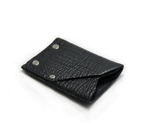 The Front Side of the Frontier Shark Skin Wallet by American Bench Craft