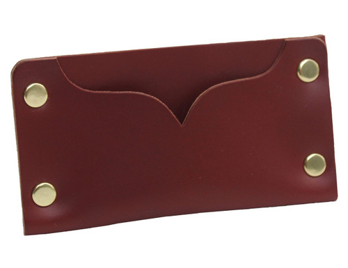 Hammer riveted leather cardholder, minimalist cardholder, full grain premium leather, made in USA by American Bench Craft