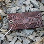 Get Lost Leather Luggage Tag by American Bench Craft Made in the USA in Reading MA
