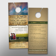 """High and Lifted Up"" Door Hanger (small) #14150"