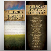 """The Lord High and Lifted Up"" Banners #14095"