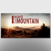 """I Want That Mountain"" Theme Banner #14076"