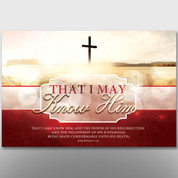 """That I May Know Him"" Theme Banner #14105"