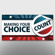 """Making Your Choice Count"" Banner #14165"