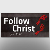"""Follow Christ"" Theme Banner #14195"