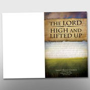 """The Lord High and Lifted Up"" Bulletin #14094"