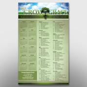 """""""Grow In Grace"""" Theme Calendar #14089"""