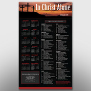 """In Christ Alone"" Theme Calendar #14138"
