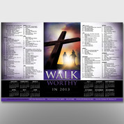 """Walk Worthy"" Theme Calendar #14183"