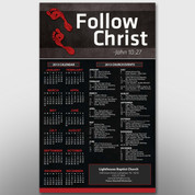 """Follow Christ"" Theme Calendar #14197"