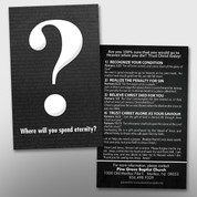 """Where Will You Spend Eternity?"" Invite Card #14110"