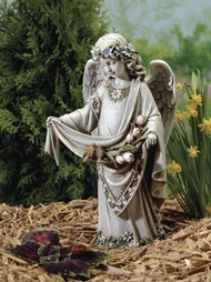 16.5inch Angel Statue With Birds Garden Statue