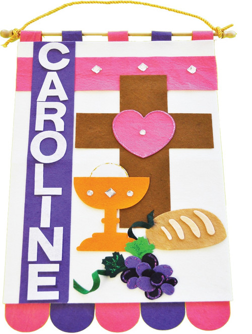 Gifts   Figurines Make It Yourself First Communion Banner Kit ylS2KV0R