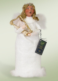 Byers' Choice Angel with Harp~The angels have arrived at the manger in Bethlehem to witness the birth of Christ and welcome the baby Jesus into the world.Comes with Specialty Box!