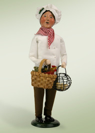 Our chef has just returned from the hen house with the fresh eggs needed to bake a holiday soufflé.