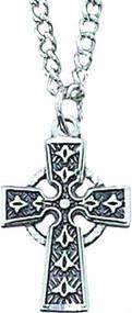 Girls Rhodium Celtic Cross Pendant (160021)