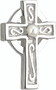 Celtic Cross Earrings with One Glass Pearl in Center to Complement Items  #120114 Celtic Cross Bracelet and #120112 Necklace or to wear alone