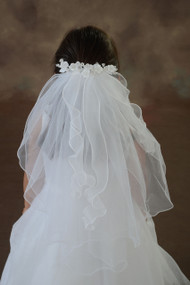 Barette with Veil and Ribbons
