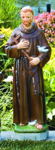 """St Francis 101524 Height 24.5"""" Base: 6"""" Sq Weight: 33 lbs  Made to order! Allow 3-4 weeks for delivery if not in stock.  Made in the USA!"""