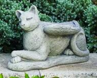 """Cement Laydown Guardian Cat Angel. Dimensions: H: 9.5"""", W: 7.75"""", L: 15, BW: 5"""", BL: 14.75"""". Wt: 19 lbs. Made to order...Allow 3-4 weeks for delivery. Made in the USA!"""