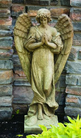 "Gabrielle the Angel ~ Dimensions: Height: 44.5"", Width: 21"" Base: 12.5"". Weight: 197. Made to order...Allow 3-4 weeks for delivery. Made in the USA!"