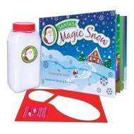 Santa's Magic Snow includes Santa's Magic Snow Book, Snow and a Boot Stencil to create Santa's steps!