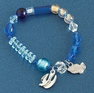 "Serenity Story Bracelet w/Instructions. The beads of the bracelet will guide you through the Serenity prayer, providing us a path to strength and peace. Let this Serenity prayer bracelet be a reminder of God's love and support during these difficult times. Made out of Glass & Metal. 7.5"" in Length, Slightly stretchy"