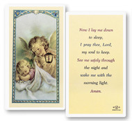 Laminated Holy Card, Now I Lay Me Down to Sleep